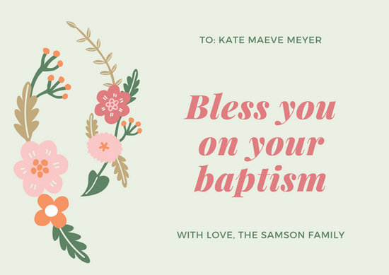 Customize 81 Baptism Card Templates Online Canva