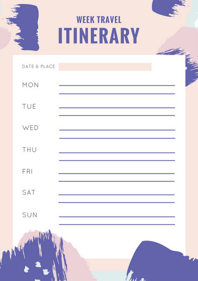 Cream Travel Itinerary Planner Templates By Canva