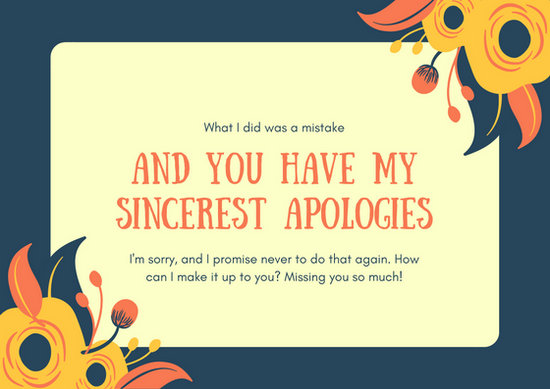 Customize 50 Apology Card Templates Online Canva