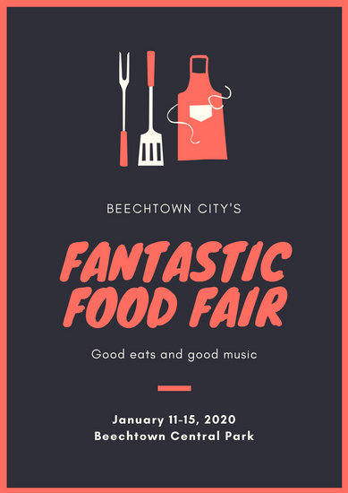 Red Food Festival Poster Templates By Canva