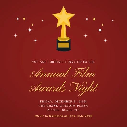 Customize 652 Awards Night Invitation Templates Online