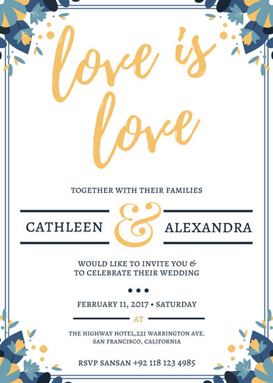 Black And White Invitations Trees Wedding