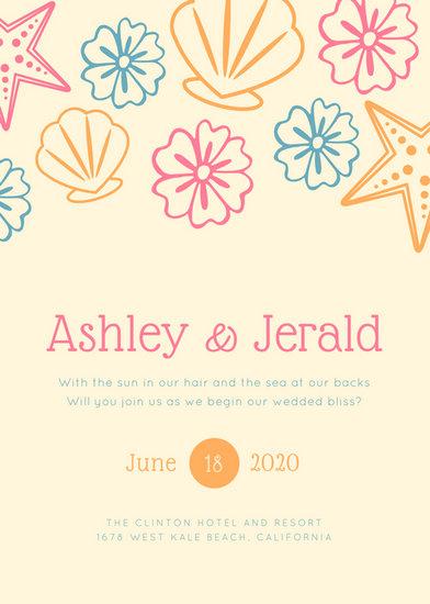 Customize 104 Beach Wedding Invitation Templates Online