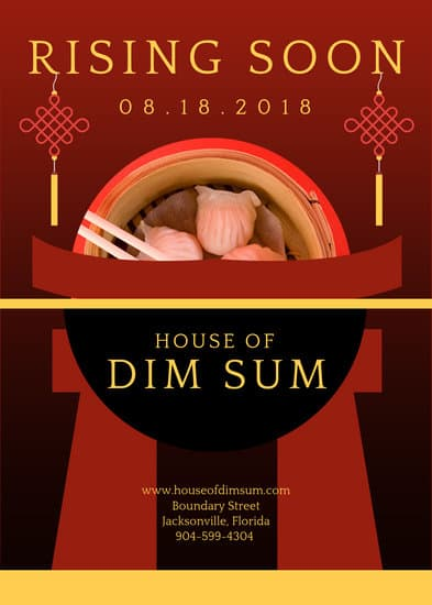 Chinese Restaurant Flyer Templates By Canva