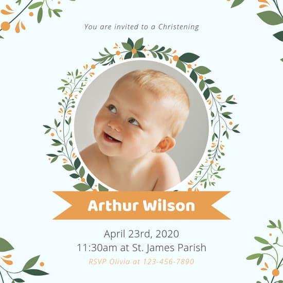Editable Baptism Invitations