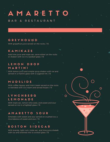 Customize 124 Cocktail Menu Templates Online Canva