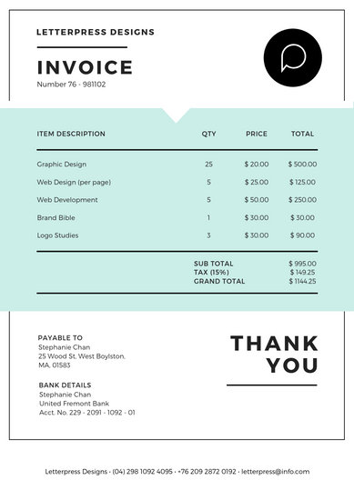 Customize 180 Invoice Templates Online Canva