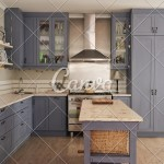 Country Style Kitchen With Modern Appliances In A