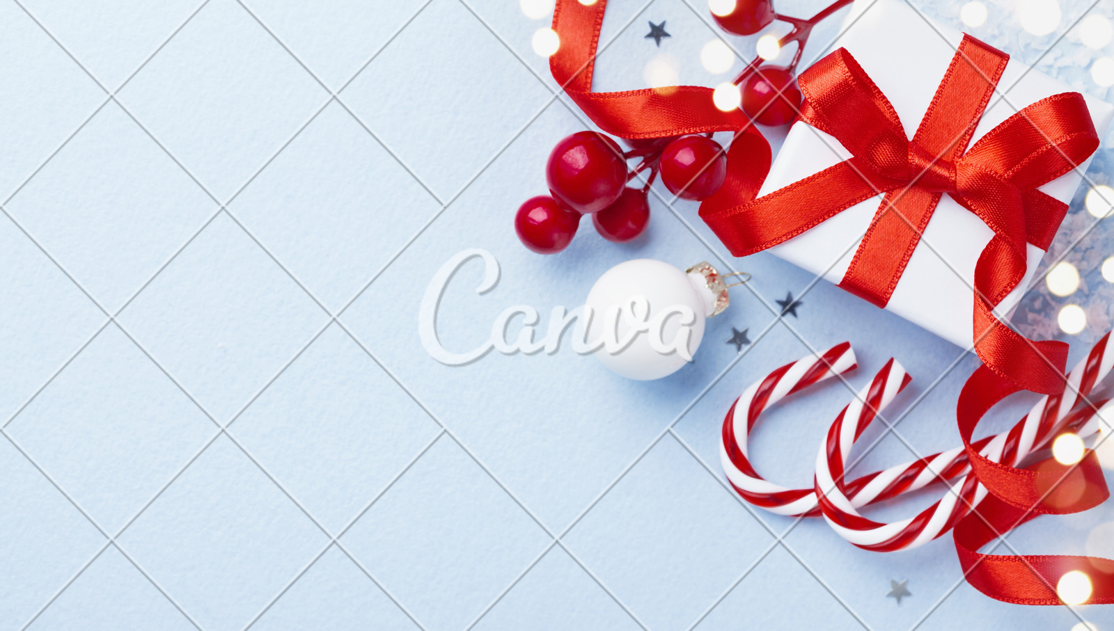 Christmas Card Or Banner Christmas Gift Box And Decorations