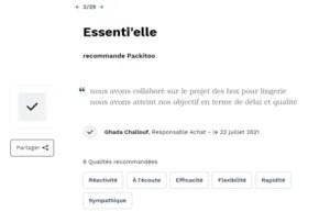 recoommandation client Essenti'elle