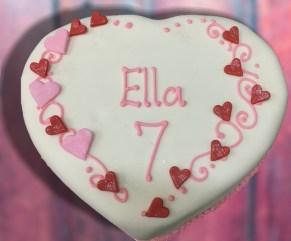 Ice cream heart cake