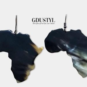 boucles d'oreille en corne Africa