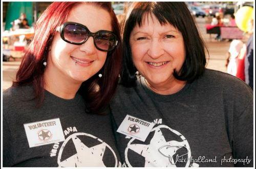 Megan and Linda Baumann at Rock Against Rasicm