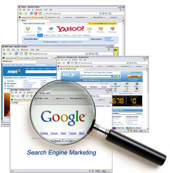 picture of online search engine webpages