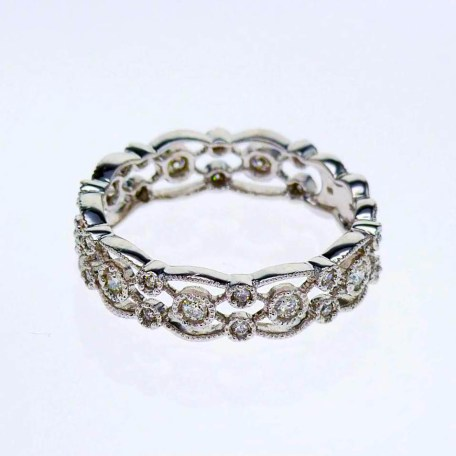Vintage inspired lace diamond ring