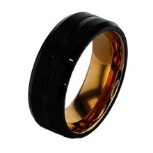 Tungsten Men's Wedding Band Black