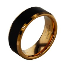 Men's Wedding Band Black Tungsten
