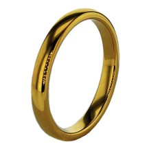 Gold Plated Tungsten Man's Wedding Band