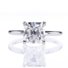 Vintage Asscher Cut Diamond Solitaire