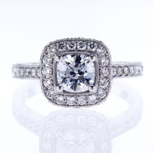 Vanna K Halo Bridal Ring