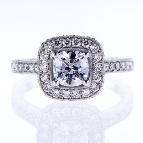 Vanna K Halo Bridal Ring