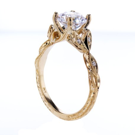 Ankora Cathedral Engagement Ring, 18k Yellow Gold