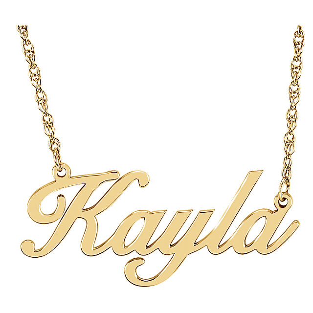 62d16d5918c25c 14K Yellow Gold Personalized Nameplate Necklace – Market Street Diamonds