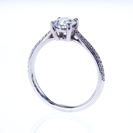 Vintage Platinum Engagement Ring with Diamond