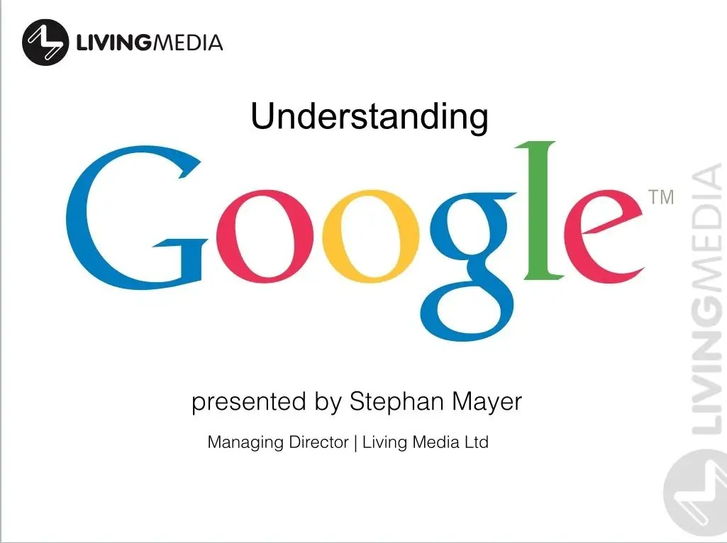 Understanding Google is paramount for any activities on the internet. Stephan Mayer is giving an