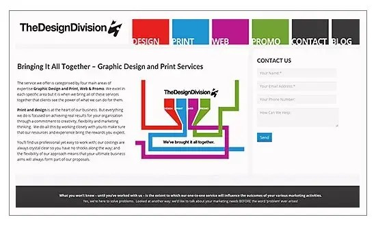 Internet marketing client the Design Division