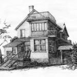 "House Portrait - pencil, 14"" x 11"""