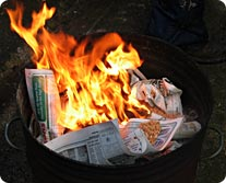 burningnewspaper