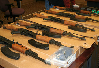 Smuggled weapons seized recently in Texas. (Photo via U.S. Immigration and Customs Enforcement.)