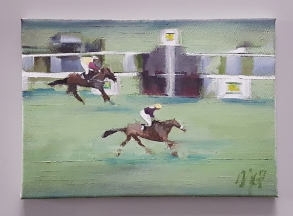 Red Rum Wins The 1973 Grand National painting
