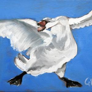 A Swan Named Broadland art print
