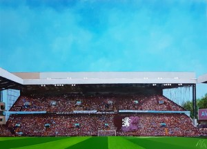 Aston Villa FC Original Painting of The Holte End, Villa Park