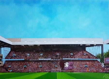 Aston Villa FC Original Painting of The Holte End, Villa Park