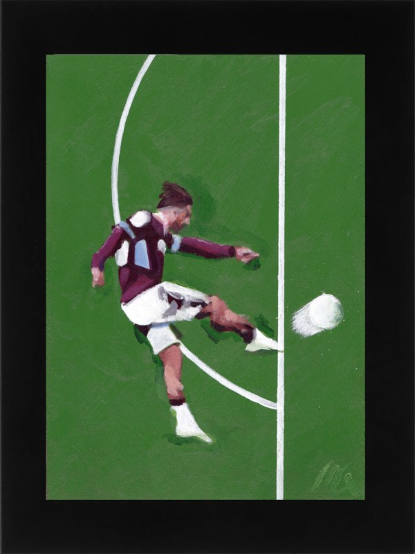 Jack Grealish volley Aston Villa vs. Derby County framed
