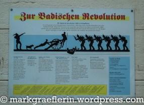 Schautafel zur Badischen Revolution