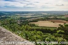 Blick auf das Cure Tal und Nordteil des Morvan