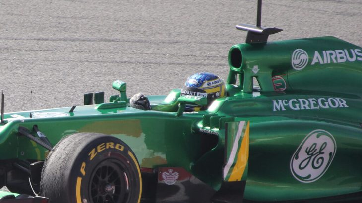 Charles Pic in Winter Testing 2013