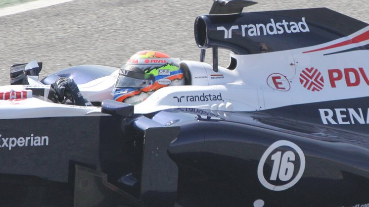 Pastor Maldonado in Winter Testing 2013