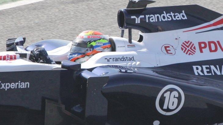 Pastor Maldonado in Winter Testing 2013