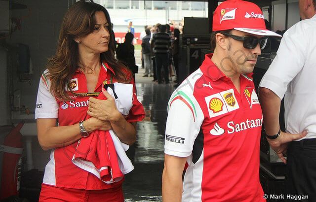 Fernando Alonso at the 2014 German Grand Prix