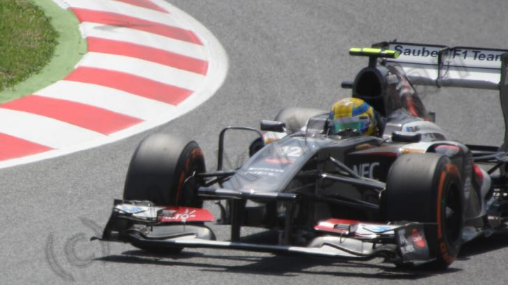 Qualifying for the Spanish Grand Prix