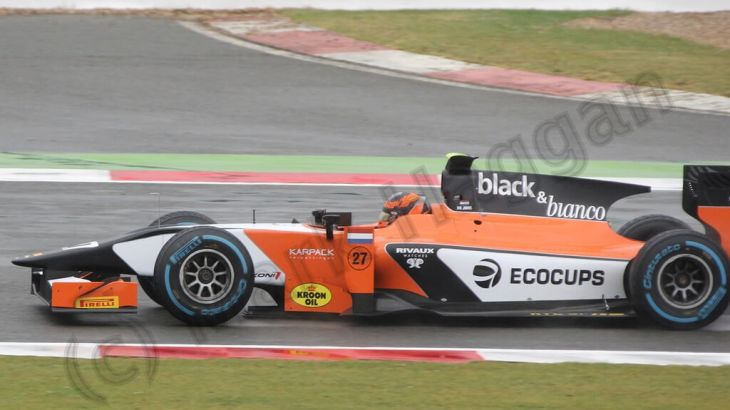 Practice for GP2 at the 2013 British Grand Prix