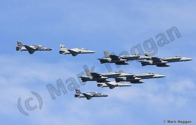 Aircraft at the International Fleet Review