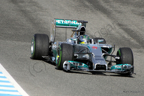 Nico Rosberg in Formula One Winter Testing 2014