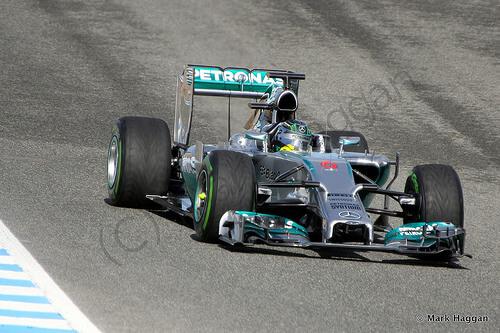 Nico Rosberg in Formula One Winter Testing 2014