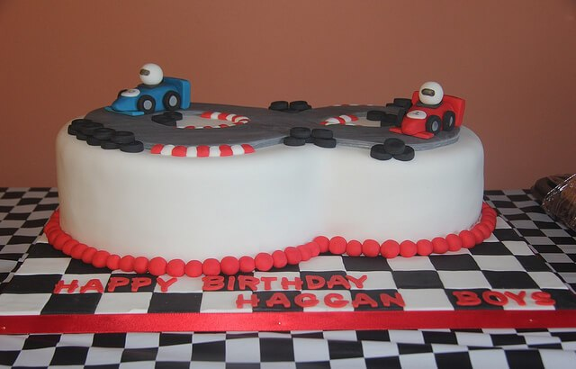 Our Formula One Birthday Cake